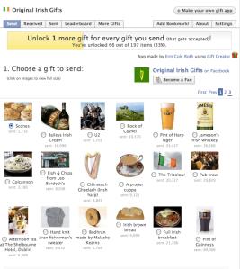 Facebook Original Irish Things app..